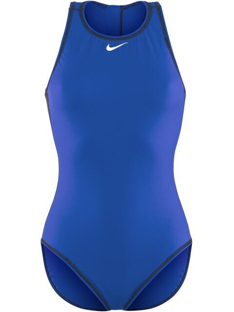 Nike Swim Water Polo Solids Swimsuit Women blue